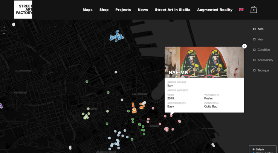 palermo streetart map interactive